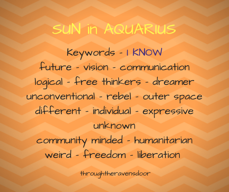 SUN in AQUARIOUS