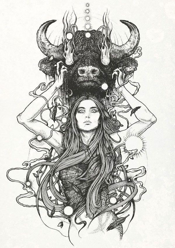 taurus by RICHEY BECKETT ILLUSTRATION